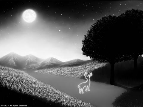 「シルエットアート風景」06(モノクロ)