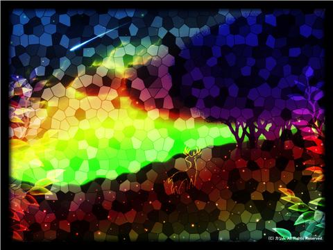 「ステンドグラスな風景」07「シルエットアート風景‐ファンタジー‐」