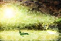 「ステンドグラスな風景」07「太古の生命」