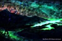 「ステンドグラスな風景」 06「満天の星空の下で」