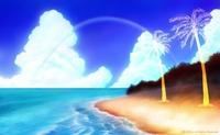「南の小島と夏の海」02(カラー)