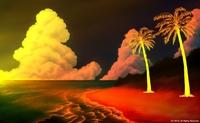 「南の小島と夏の海」03「黄昏」