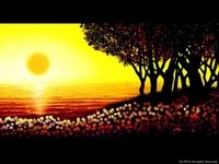 「海辺の風景」02「陽 沈む時」(カラー)