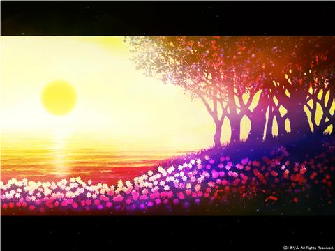 「海辺の風景」04「夕日を浴びて」