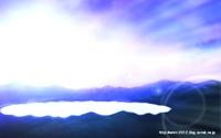 「湖のある風景」01「朝日を受けて」