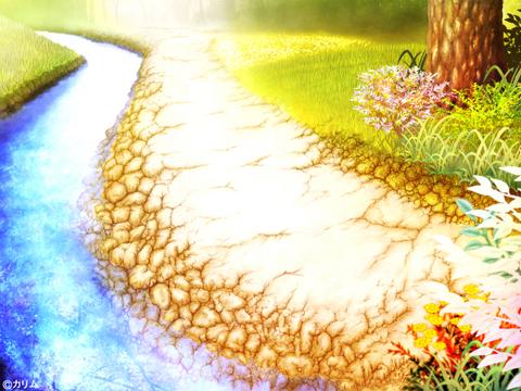 「風景画2014」10「川辺の小道 」制作05「川」 .jpg